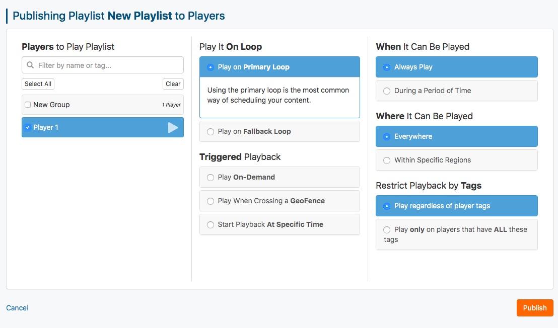publish campaign playlist 2