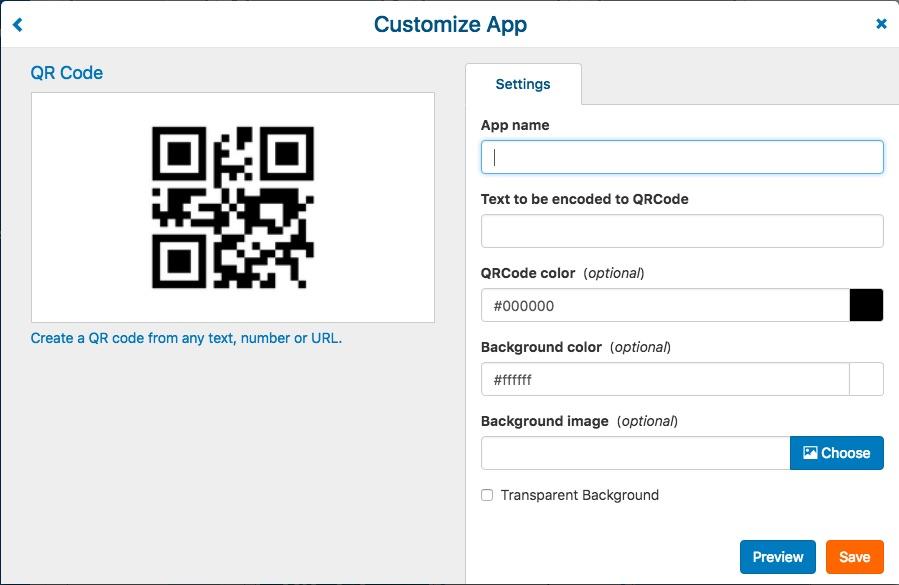 3. QR code settings