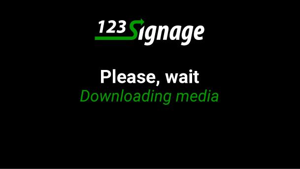123-Signage - Custom Full screen logo
