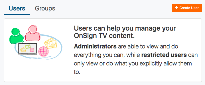 create additional user accounts button