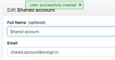created additional user accounts