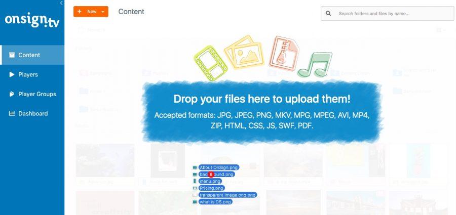 faça upload dos arquivos
