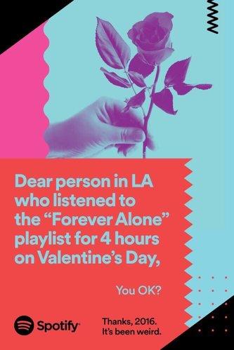 Digital signage uses : Spotify