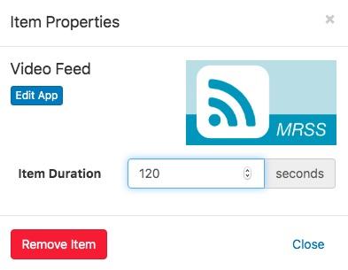 video feed app properties